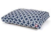 Navy Blue Links Rectangular Pet Bed Small 36 in. L x 29 in. W x 4 in. H 7 lbs.