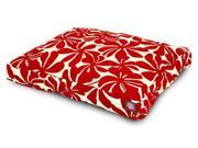 Red Plantation Rectangular Pet Bed Small 36 in. L x 29 in. W x 4 in. H 7 lbs.