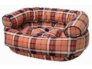 Double Donut Bed in Kensington Plaid Fabric (X Large: 48 x 38 x 17 in.) 9SIA2HK2WM2509