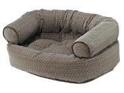Double Donut Bed in Khaki Bones Fabric (X Large: 48 x 38 x 17 in.) 9SIA2HK2WM2383
