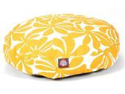 Yellow Plantation Round Pet Bed Small 30 in. L x 30 in. W x 4 in. H 3 lbs.