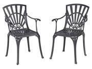 Dining Chair in Charcoal Finish - Set of 2