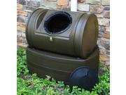 Compost Wizard Hybrid Composter and Rain Barrel in Oak