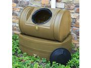Compost Wizard Hybrid Composter and Rain Barrel in Khaki