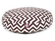 Chocolate Chevron Round Pet Bed Small 30 in. L x 30 in. W x 4 in. H 3 lbs.