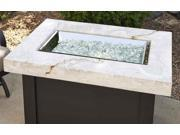 Outdoor Greatroom PROV 1224 WO K Providence Crystal Fire Pit Table with White Onyx Marbelized Top and Black Metal Base