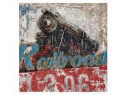 Crestview Locomotive Metal Canvas Wall Art 9SIA6DA5737894