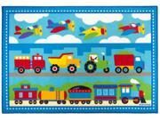 Trains, Planes, Trucks Kids Rug (4.8 ft. L x 3.25 ft. W (4 lbs.))