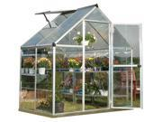 72.80 in. Polycarbonate Greenhouse in Silver