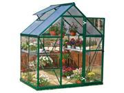 72.80 in. Polycarbonate Greenhouse in Forest Green