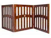 Convertible Dog Gate with Ceramic Paw Accent