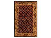 Wool Rug with Black & Red Center (3 ft. x 5 ft.)