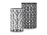 2-Pc Essentials Jazz Metal Lantern Set