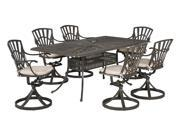 Largo 7-Pc Outdoor Rectangle Dining Set with Cushion