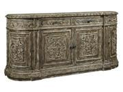 4-Drawer Credenza in Aged Brown Finish
