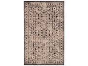 Floral Area Rug in Cream and Black (12 ft. L x 9 ft. W)