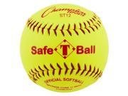 12 in. Safety Softball in Optic Yellow Set of 12