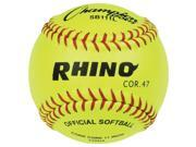 Leather Cover Softball in Optic Yellow Set of 12