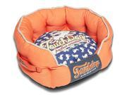 Touchdog Rabbit Spotted Premium Rounded Dog Bed