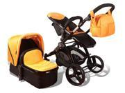 Elle Baby 3 in 1 ORANGE Travel System Child Stroller and Pram