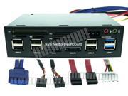 5.25 Multi-Function Front Panel Media Dashboard 6 USB2.0 2 USB3.0 SATA eSATA SD TF M2 MMC MS CF Card Reader 4 Pin Power Earphone Speaker Microphone Mic Sockets OEM