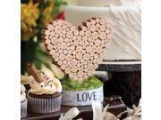 Rustic Heart Table D cor