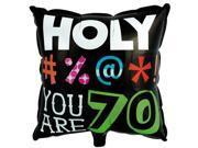 Holy Bleep 70 Foil Balloon