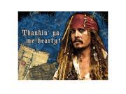Disney Pirates of the Caribbean 4 Thank You Notes