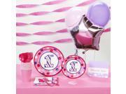 1st Birthday Girl Sweet Stripes Basic Party Pack 9SIA2K34T64223