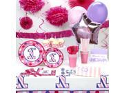1st Birthday Girl Sweet Stripes Super Deluxe Party Pack 9SIA2K34T63648