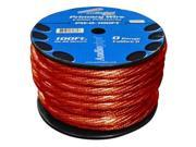 Audiopipe Pw0100rd Red 0 Gauge 100' Spool Oxygen Free Power Cable