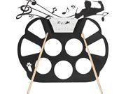 niceEshop® Portable Electric Roll Up Drum Pad Kit, Silicon Foldable, Record Function, with Sticks(Black)