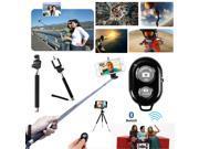 Handheld Monopod Telescopic Pole+Bluetooth Shutter Remote for iPhone Samsung