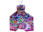 LA LEELA Soft  Printed Vacation Floral Cover Up Womens Violet 820 One Size 9SIA2NF5T33945