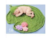 Yupengda Baby Newborn Boy Girl Cute All kinds of Animal Crochet Cotton Knit Costume Photo Prop (Frog)