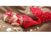 Newborn Baby Girl Boy Crochet Knit Mermaid Costume Photography Prop Outfit