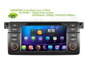 HD 1024*600 Android 4.44 Car Dvd Gps Navi Audio for BMW E46 (1998-2006) M3 1080P HW  1GB DDR 16GB WIFI 8GB SD CARD CANBUS SUPPORT DVR OBD, STEERING WHEEL CONTRO