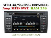 Car Dvd Gps for AUDI A6 S6 RS6 (1997-2004) DVD AUX IN BLUETOOTH 256RAM PIP RDS VIRTUAL DISCK8 +8GB CARD