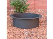 Sunnydaze Fire Pit Rim, Make Your Own in-Ground Fire Pit, 27 Inch Diameter
