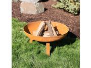 Metal Fire Pit/Cast-Iron Rustic Campfire Bowl for Wood Fires, Copper Finish, 31""