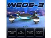 HuaJun W606-3 U-FLY 4CH 2.4G with 2.0MP HD Camera 3D Roll Quadcopter LED Plane Model Toys RC Quadcopter Headless Mode (Standard Version)