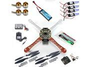 RC 4 Axle Multi QuadCopter UFO ARF/Kit No TX&RX:KK V2.3 Circuit board+1000KV Motor+30A ESC+Lipo+F450 Flamewheel