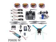 DIY Unassembly 2.4G 10ch RC Quadcopter Drone 500mm S500-PCB APM2.8 M8N GPS 2-Axle Gimbal RTF Full Kit Motor ESC