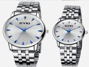 1 Piece Business Vintage Steel Band Lover's Quartz Wrist Watch Best Gift For Man or Lady or Couple