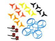 JMT 65mm Bwhoop65 Brushless Whoop Frame with 8Pairs CW CCW 40mm 3-Blade Propeller 4pcs SE0603 KV19000 0.8mm Motor for Indoor FPV Racing Drone Quadcopter