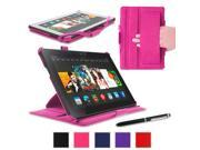 """rooCASE Amazon Kindle Fire HDX 8.9 Case - (2014 Current Generation) Slim Fit Multi Angle Tablet 8.9-Inch 8.9"""" Stand Cover - MAGENTA"""