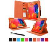 """rooCASE Samsung Galaxy Tab Pro 10.1 / Note 10.1 2014 Edition Case - Dual View Multi Angle Landscape Portrait Stand 10.1-Inch 10.1"""" Tablet Case - Orange (With Auto Wake / Sleep Cover)"""