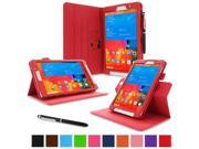 rooCASE Samsung Galaxy Tab Pro 8.4 Case Dual View Multi Angle Stand 8.4 Inch 8.4 Tablet Case RED With Auto Wake Sleep Cover