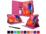 """rooCASE Samsung Galaxy Tab Pro 10.1 / Note 10.1 2014 Edition Case - Dual View Multi Angle Landscape Portrait Stand 10.1-Inch 10.1"""" Tablet Case - Magenta (With Auto Wake / Sleep Cover)"""