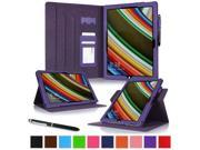 Surface Pro 3 Case, roocase Dual View Surface Pro 3 Synthetic Leather Folio Case Cover Stand for Microsoft Surface Pro 3 Tablet [Auto Sleep/Wake Feature], Purple